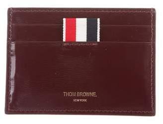 Thom Browne Leather Logo Cardholder