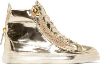 Giuseppe Zanotti Platinum London High-Top Sneakers $795 thestylecure.com