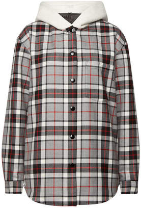 Alexander Wang Checked Wool Shirt with Cotton