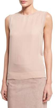 Ralph Lauren Collection Jewel-Neck Slim-Fit Shell, Rose $790 thestylecure.com
