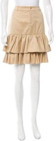 Ralph Lauren Collection Tiered Pleated Skirt
