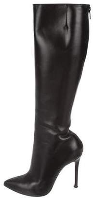 Christian Louboutin Pointed-Toe Knee-High Boots