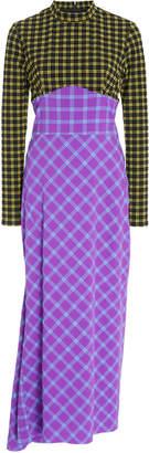 Rachel Comey Converge Check-Printed Midi Dress