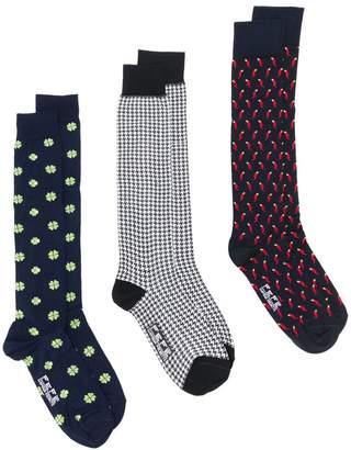 fe-fe pack of three patterned socks