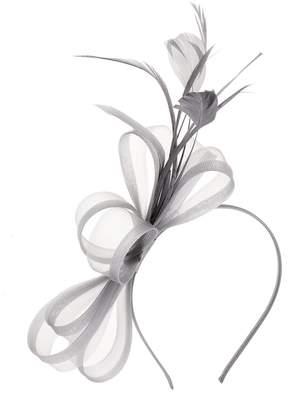 Quiz Grey Bow Feather Headband Fascinator