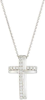 e3e008ff9c0 Giantti by Stefan Hafner 18k White Gold Diamond Cross Pendant Necklace