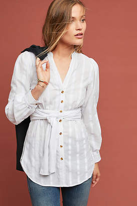 Maeve South Seas Belted Buttondown