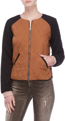 Scotch & Soda Quilted Knit Bomber Jacket
