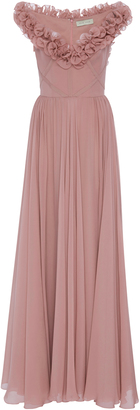 Elie Saab Sleeveless Ruffled Gown $5,050 thestylecure.com