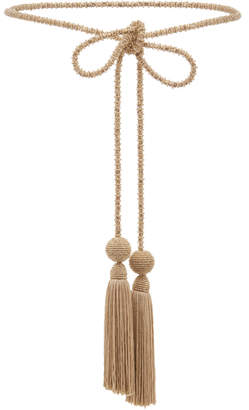 Oscar de la Renta Jeweled Tassel Belt
