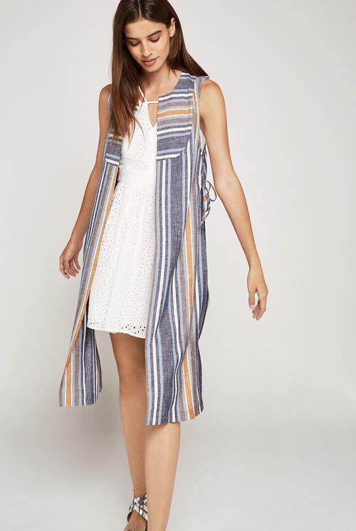 Variegated Stripe Long Vest