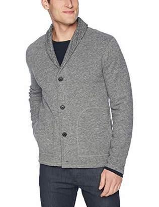 Billy Reid Men's Long Sleeve Mouline Shawl Collar Cardigan Sweater Jacket