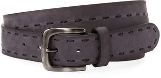 Berge Suede Centre Stitch Belt