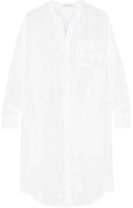 James Perse - Linen Shirt Dress - White $225 thestylecure.com
