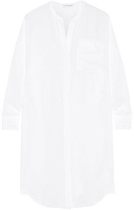 James Perse - Linen Shirt Dress - White $225 thestylecure.com
