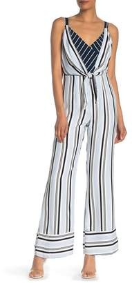 9d886b5fe60 Adelyn Rae Ava Woven Striped Jumpsuit