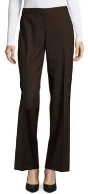 Lafayette 148 New York Straight-Leg Stretch Wool Pants