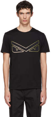 Fendi Black Bag Bugs Eyebrow T-Shirt