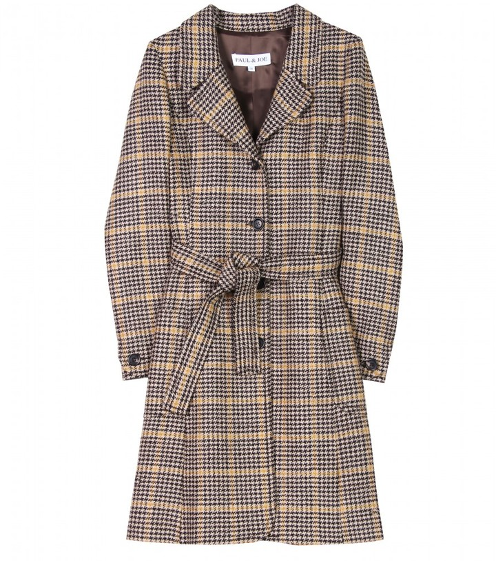 Paul & Joe FAREWEL HOUNDSTOOTH WOOL TRENCH COAT