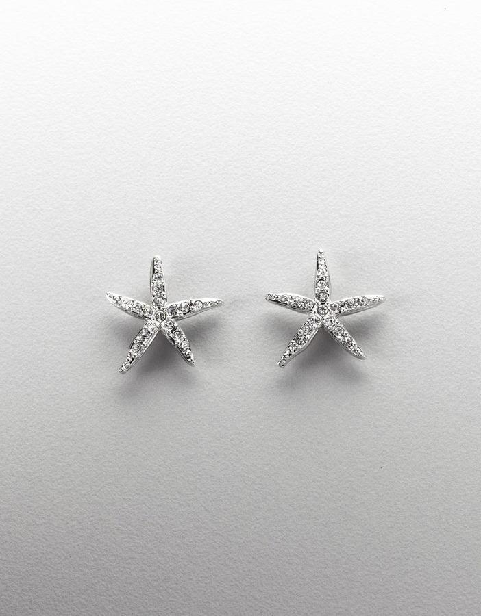 SWAROVSKI Swarovski Crystal & Pavé Button Earrings