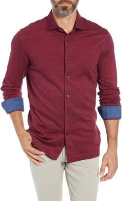 Bugatchi Regular Fit Contrast Cuff Sport Shirt