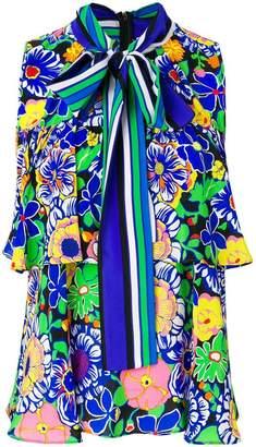 MSGM printed sleeveless blouse