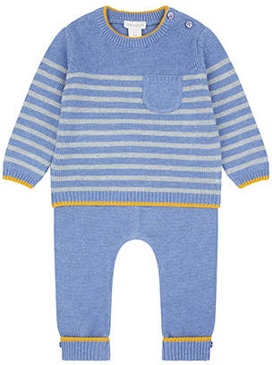 Monsoon Newborn Baby Benny Blue Knitted Set