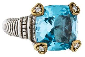 Judith Ripka Topaz & Diamond Fontaine Cocktail Ring
