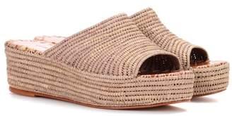 Carrie Forbes Woven platform sandals