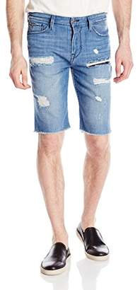 GUESS Men's Raw Hem Slim Denim Short