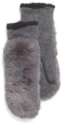 Faux Fur Gloves With Berber Lining