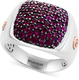 Effy Men's Ruby Ring (1-3/4 ct. t.w.) in Sterling Silver & 14k Rose Gold