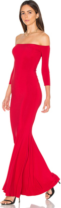 Norma Kamali Off The Shoulder Fishtail Gown $295 thestylecure.com