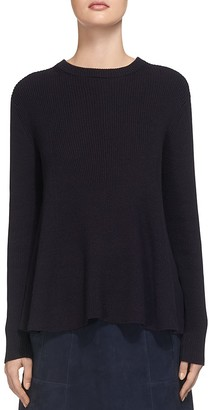 Whistles Ribbed Swing Sweater $160 thestylecure.com