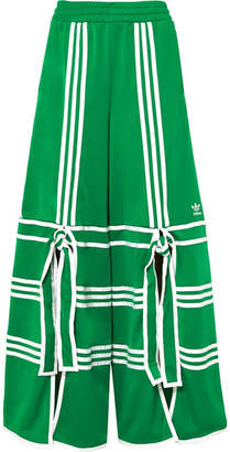 adidas Ji Won Choi Striped Satin-jersey Track Pants - Green