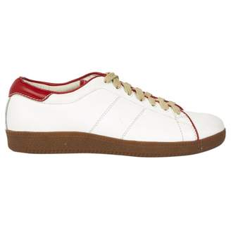 Laurence Dolige White Leather Trainers
