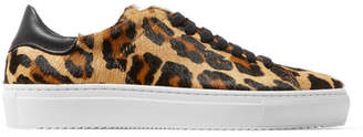 Axel Arigato - Tennis Leather-trimmed Leopard-print Calf Hair Sneakers - Leopard print