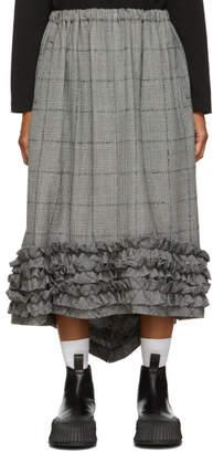 Comme des Garcons Black and White Glen Check Skirt