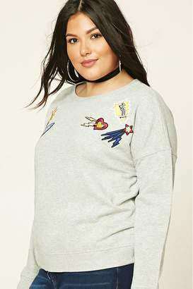 Forever 21 Plus Size Zoom Patch Sweatshirt