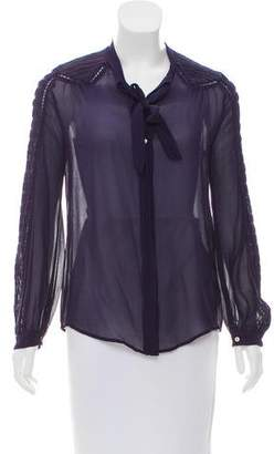 Isabel Marant Silk Button-Up Blouse