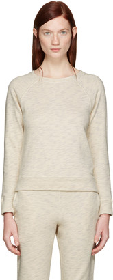 A.P.C. Ecru Simple Pullover $180 thestylecure.com