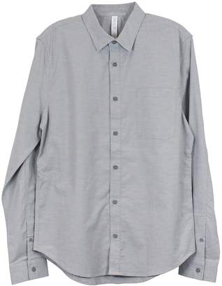 Lululemon Battleship Silver Spoon Commission Long Sleeve button down