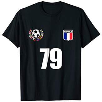 France 1979 39th Birthday 39 Years Old Soccer Jersey T-Shirt
