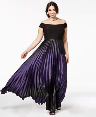City Chic Trendy Plus Size Passion Ombre Maxi Dress