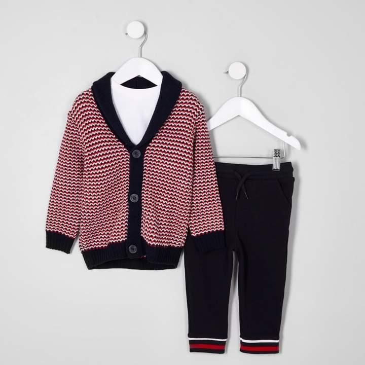 Mini boys jacquard cardigan outfit