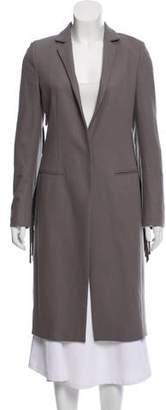 AllSaints Fringe-Accented Wool Coat