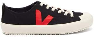 Veja Nova V Logo Low Top Trainers - Womens - Black Red