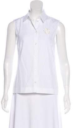 Simone Rocha Sleeveless Embellished Top