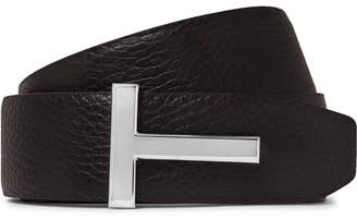 d444391b9442 Tom Ford 4cm Black And Brown Reversible Full-Grain Leather Belt