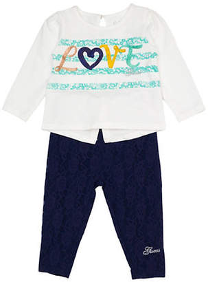 GUESS Two-Piece Love Shirt and Leggings Set